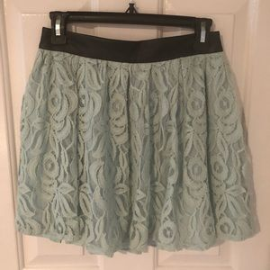 Mint Lace BCBG Skirt